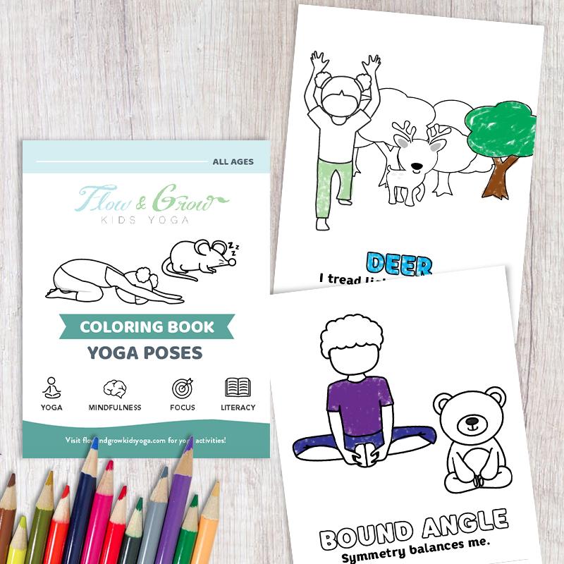 Yoga Coloring Printable Book — Flow and Grow Kids Yoga