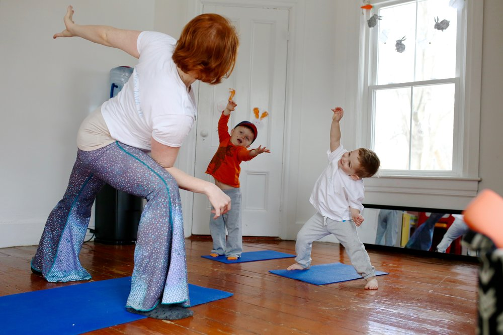 kids at home yoga