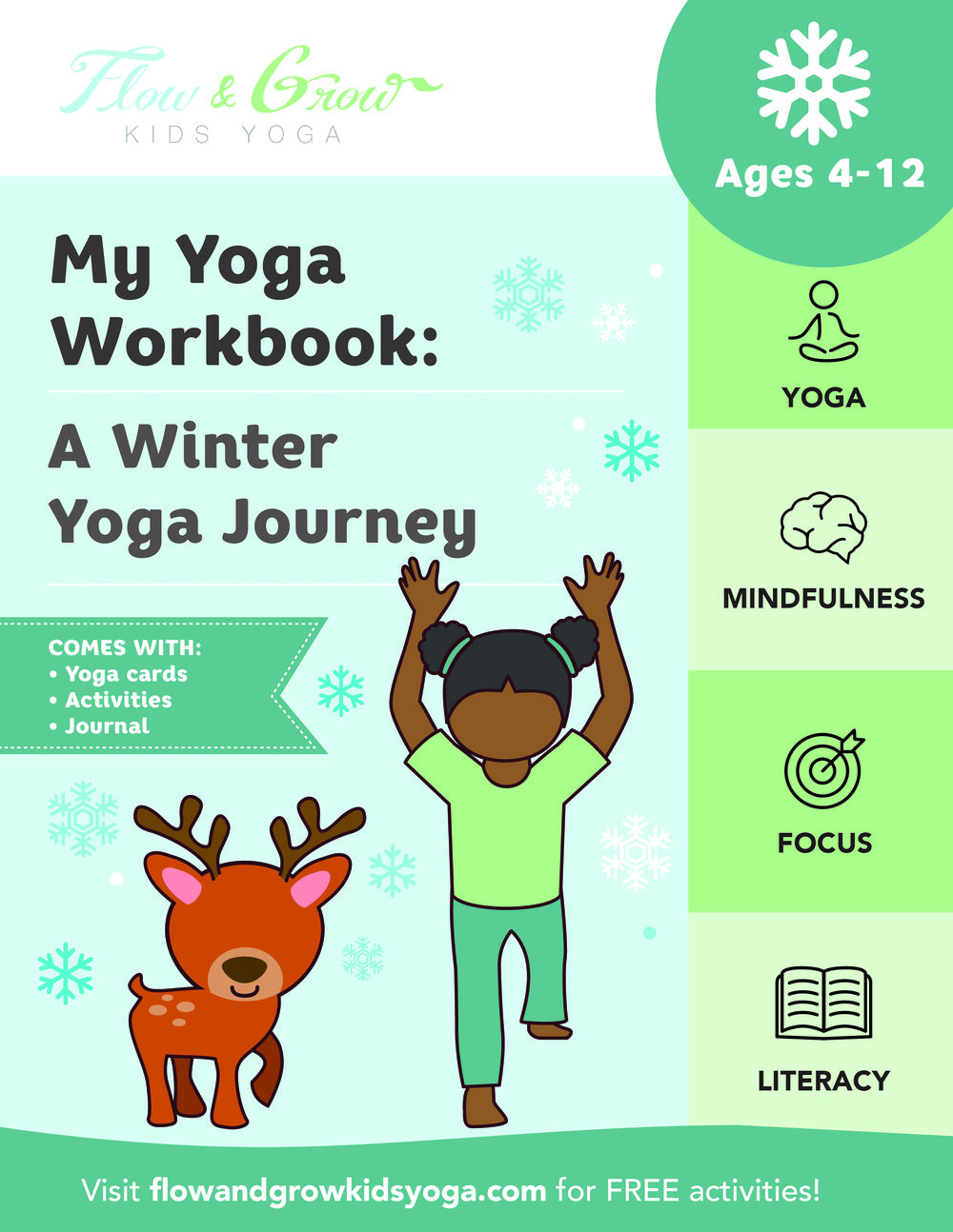 The Cover of  My Yoga WorkBook: A Winter Yoga Journey