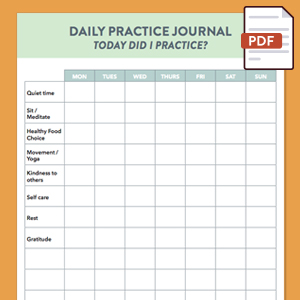 Daily Practice Journal