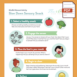 Slow Down Sensory Snack