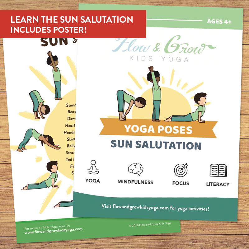 Sun Salutation Yoga Cards Flow And Grow Kids