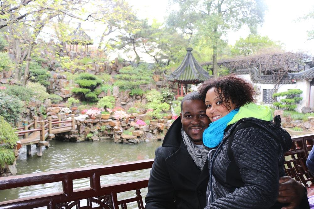 Touring the Yuyuan Garden in Shanghai.