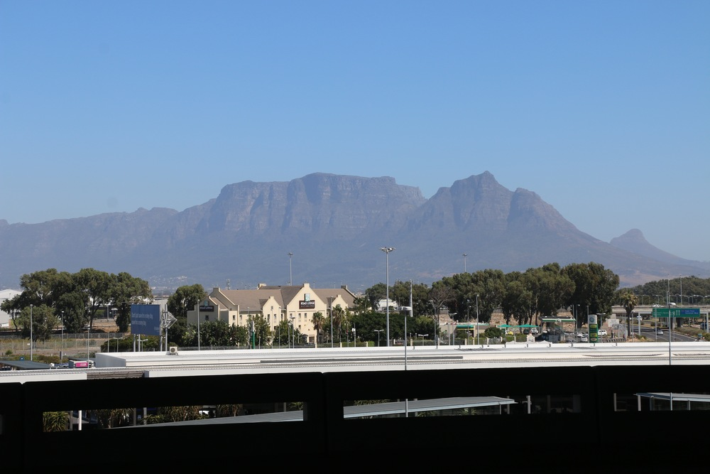 The view of Table Mountain from the Airport