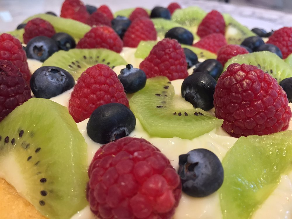 Tarta de Almendra con Frutas