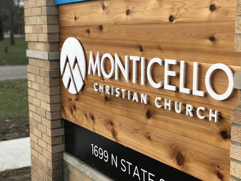 Big Picture Imagery Signs and Service - Monticello Christian Church - Monticello IL - Laser Cut Acrylic - Signage Assembly.jpg