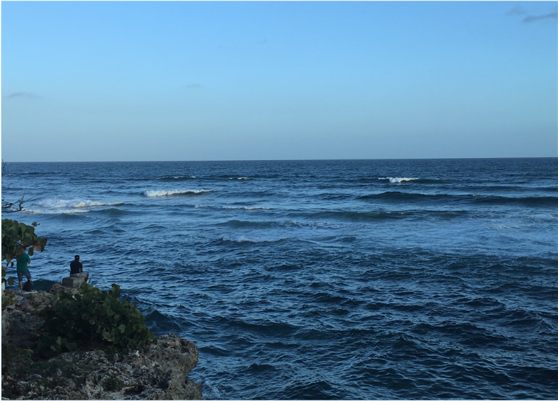 View of the Caribbean Sea.