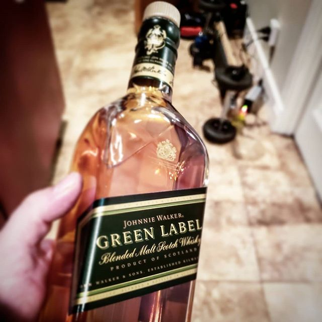 It's a #greenlabel kind of night! #johnnywalker #keeponwalking #scotch #whiskey #whisky #craftice #ice #iceball #clearice #bartender