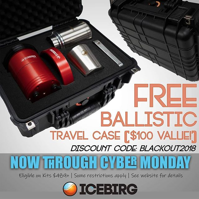Ladies & Gents, now for the moment you have all been waiting for! This year, from NOW through #BlackFriday and #CyberMonday we will be giving away FREE BALLISTIC TRAVEL CASES with every Craft Ice Press Kit $489 and up! ($99 VALUE!) Just add the discount code BLACKOUT2018 to your order after placing the kit of your choice and the travel case to your cart!  HAPPY HOLIDAYS!  FOR MORE INFO PLEASE VISIT ICEBIRGPRESS.COM  #whiskey #whisky #scotch #bourbon #cocktails #craft #clearice #iceballs #perfectballs #iceballpress #crafticesystems #ICEBIRG #bartender #barlife #craftcocktail