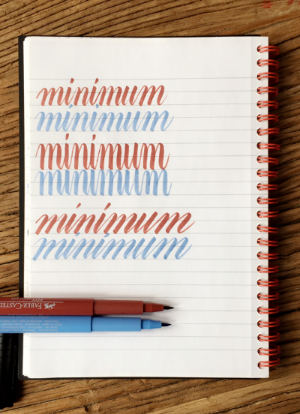 "Common practice exercise, writing ""minimum"""