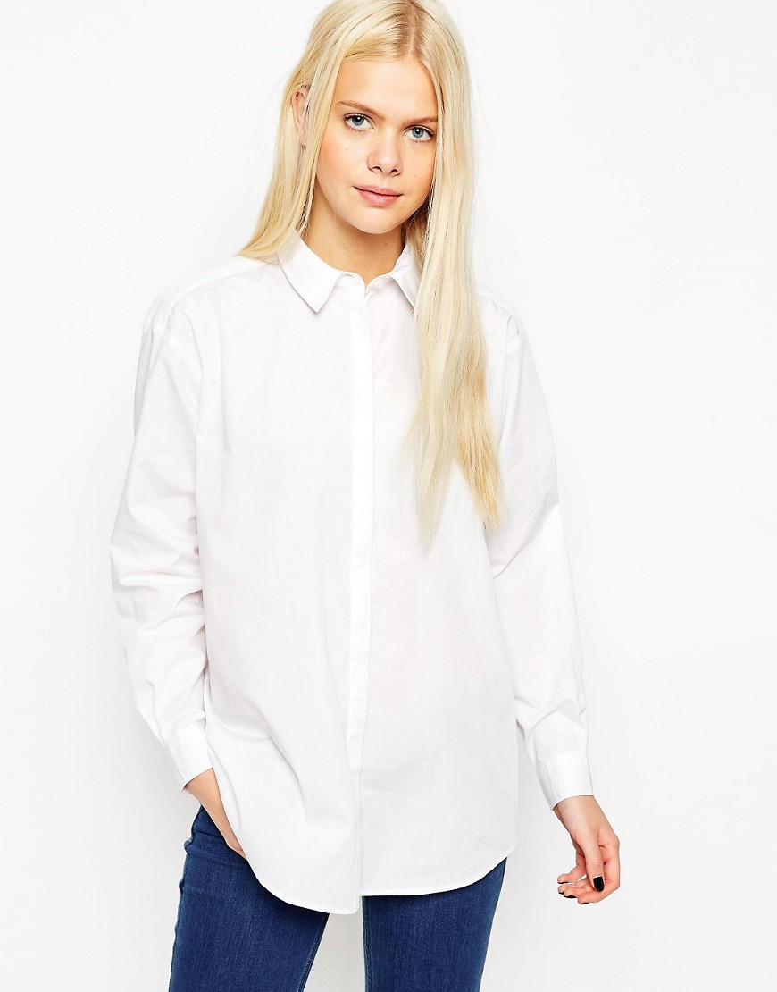 ASOS Oversized Boyfriend White Shirt