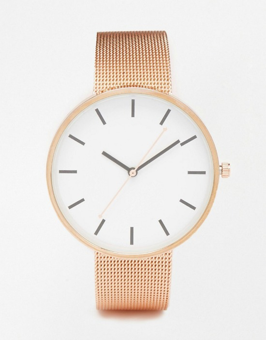 ASOS Minimal Mesh Large Face Watch