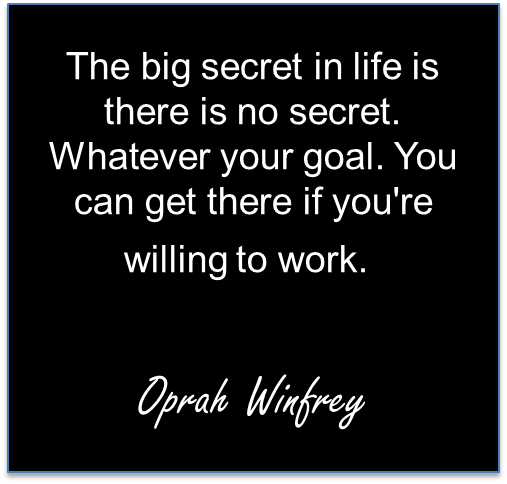Oprah Winfrey Hard Work Quote