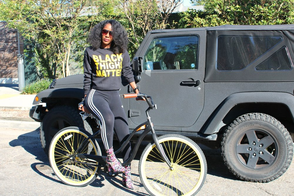 Black Thighs Matter Sweatshirt Style & Energy