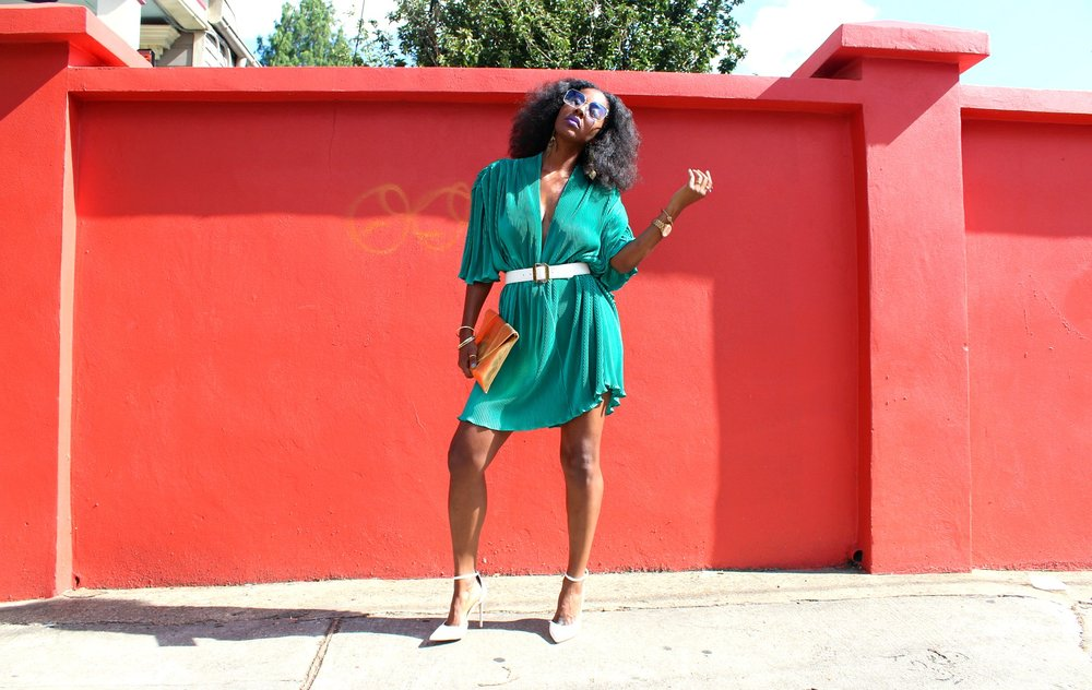 vintage teal washington ave dress