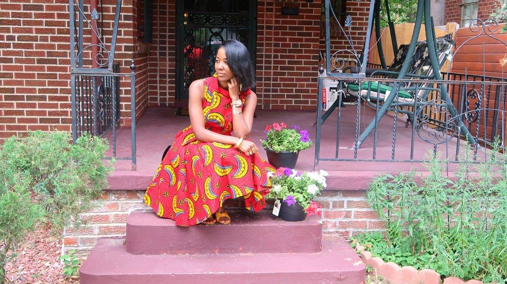 Raydarten African Print Dress