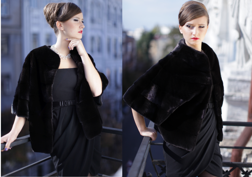 Mink Fur Jacket Black Royal Fur Club Style and Fashion 2