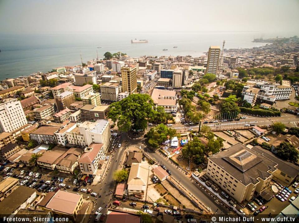 The Cotton Tree in City Center of Freetown
