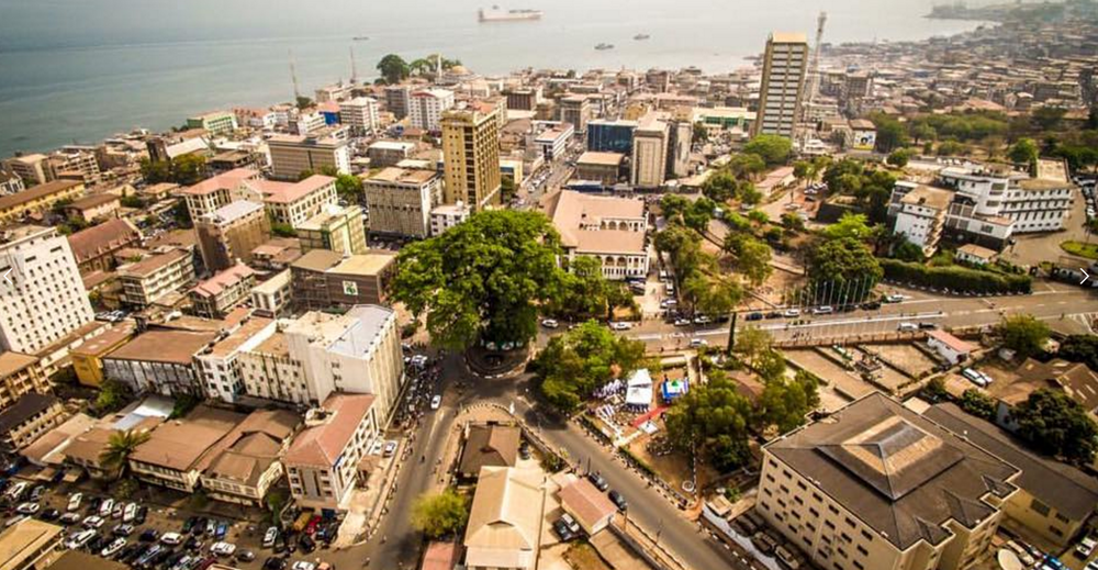 Cotton Tree in the city center of Freetown, Sierra Leone