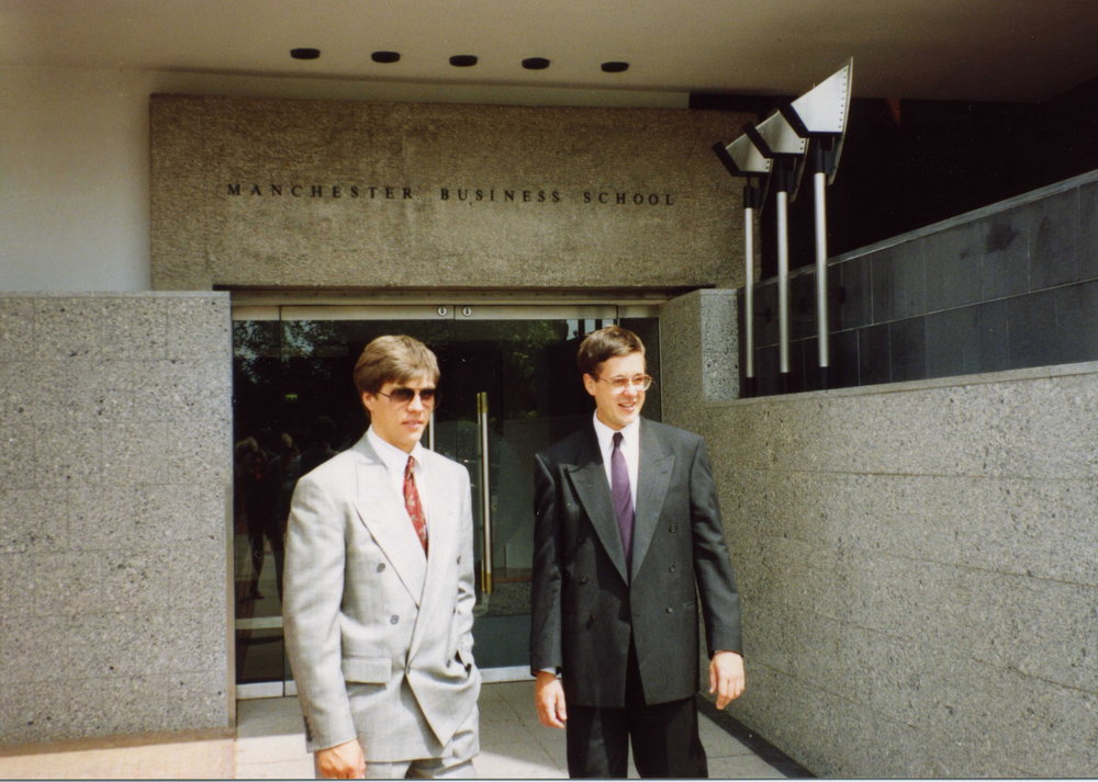 Graduation from Manchester Business School, 1991
