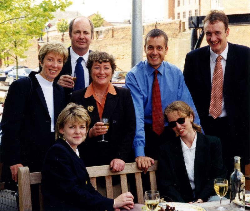 Leaving party from Rothschilds Manchester, 1998