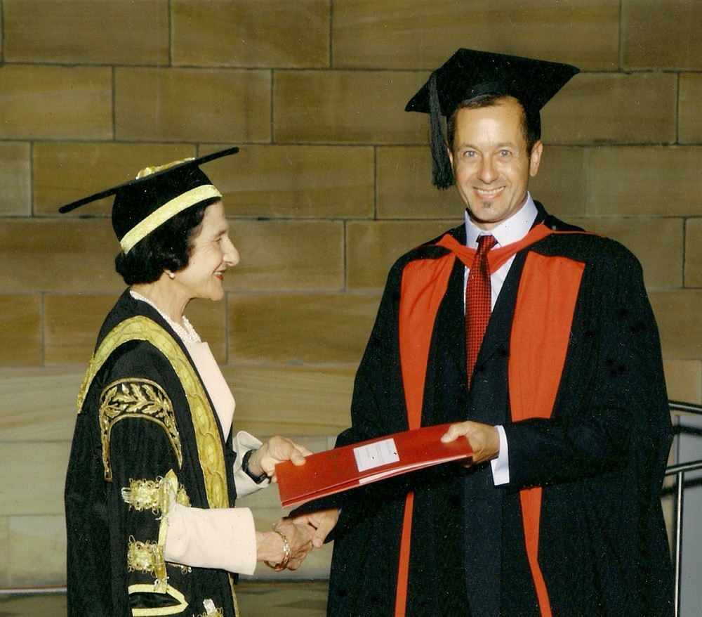 PhD graduation with degree presented by Marie Bashir, NSW Governor, 2009
