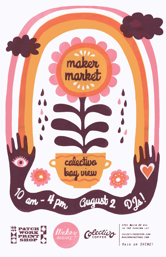 Maker Market Poster // August