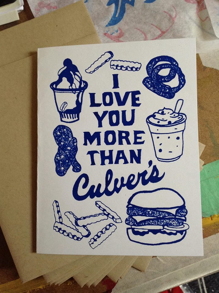 I Love You More Than Culver's Card