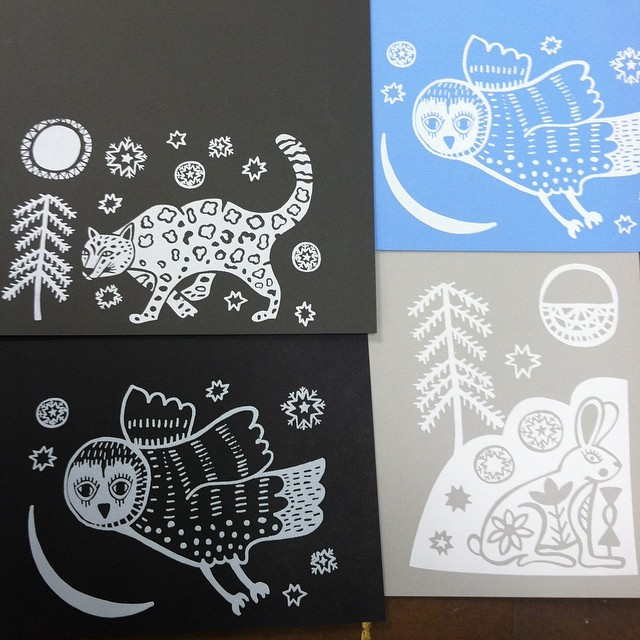 Snowy Creatures Cards