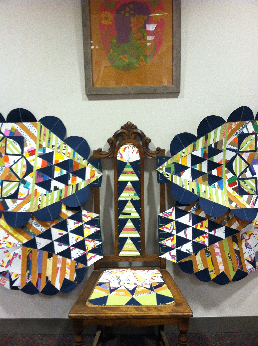 Scrap Print Chair at Hawthorne Library // Created for Madison Community Discourse Show