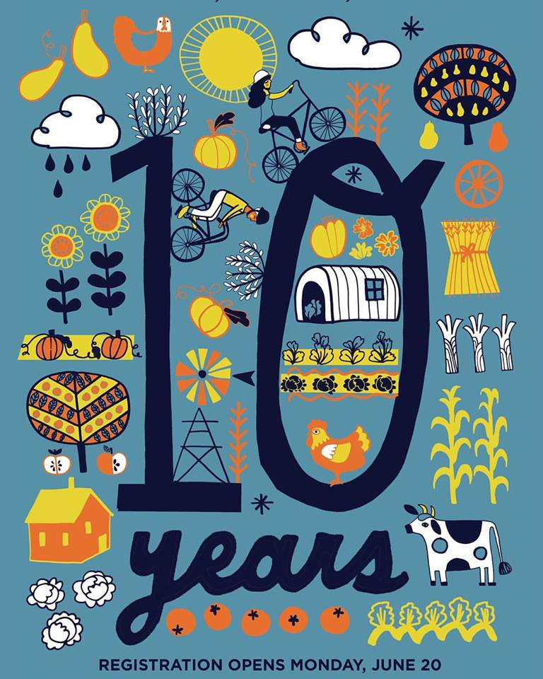 Bike the Barns 10 Year Anniversary Poster