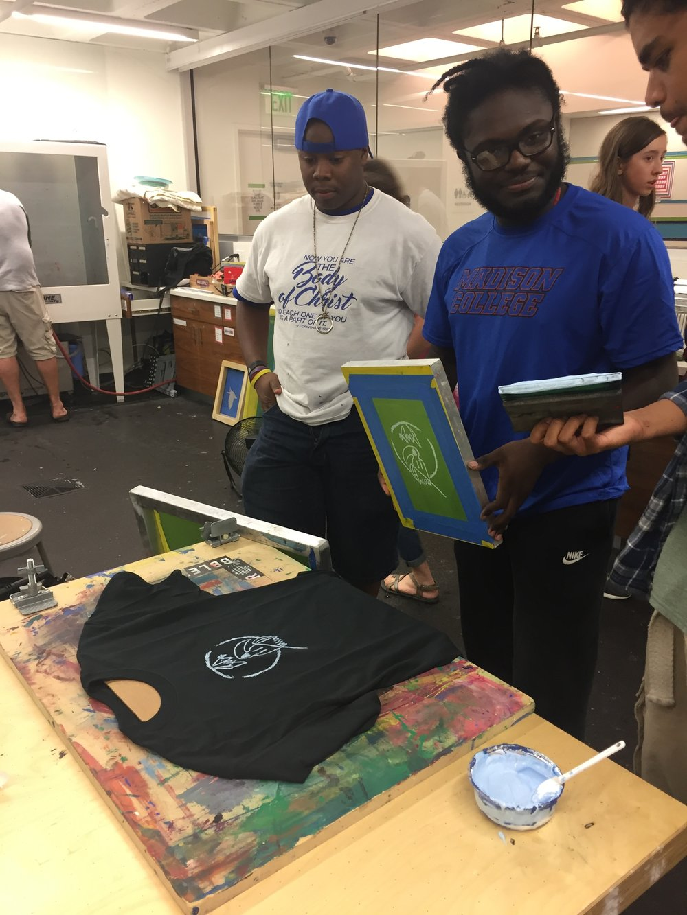 Screen Printing Workshop at The Bubbler