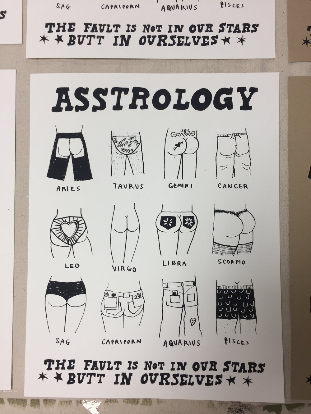 Asstrology (collaboration with Rachel Duggan)