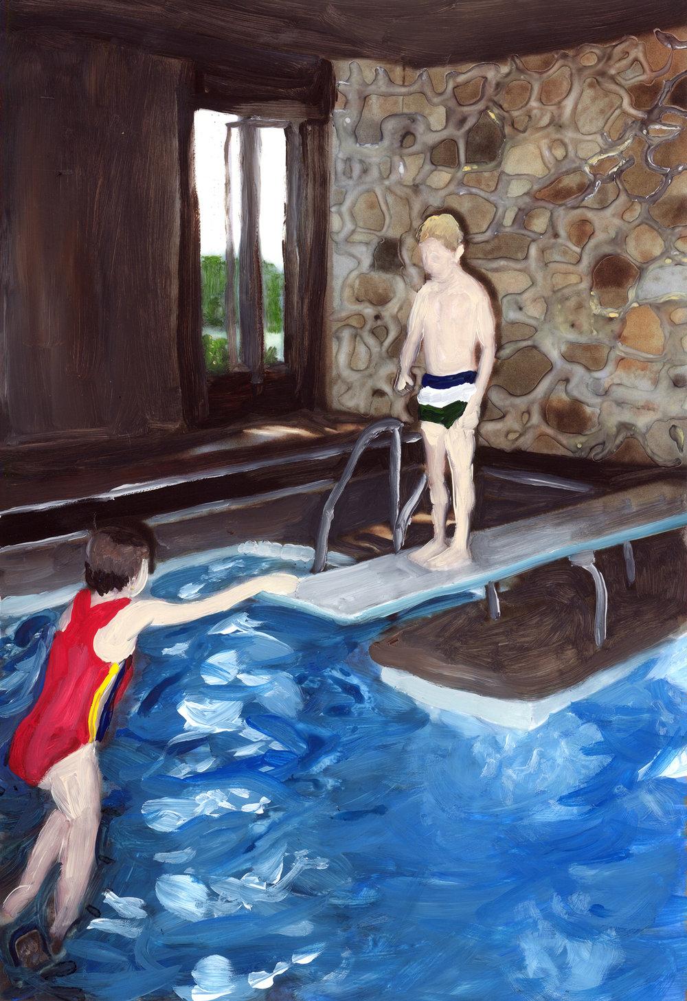 at grandpa's pool