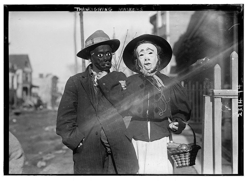 Thanksgiving Maskers (Bain Collection)