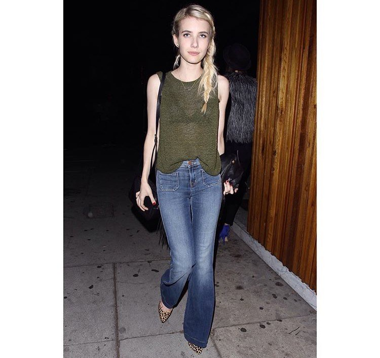 Emma Roberts Courtesy of JBrand's Instagram.