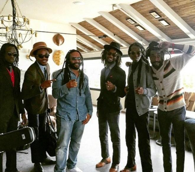 Courtesy of @nomaddzja. The No-Maddz fellas seen here with Ky-Mani Marley.