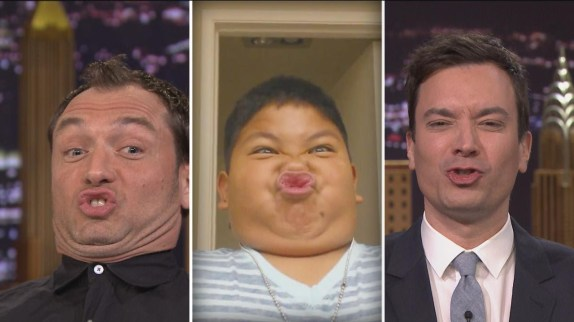 Splurtfaces on The Tonight Show with Jimmy Falon.