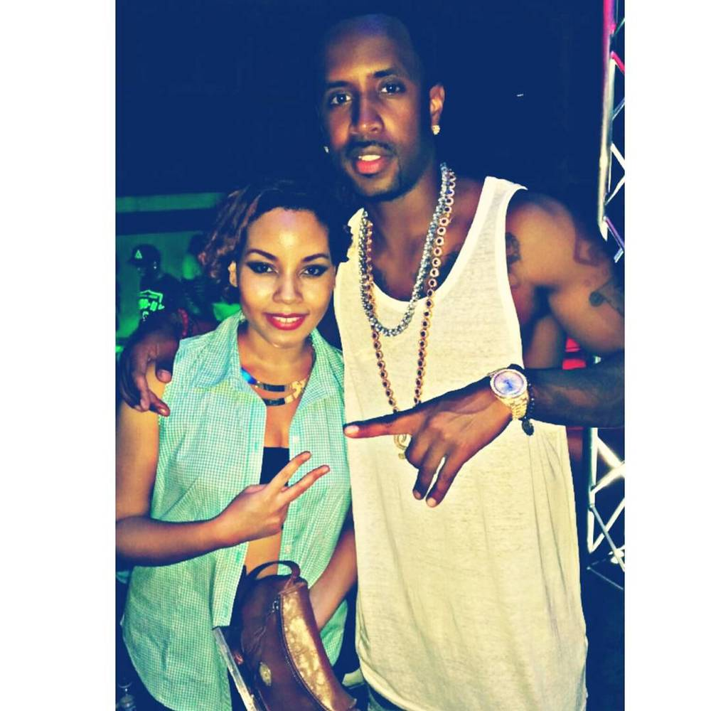 Jordanne with LA-based Jamaican Safaree Samuels