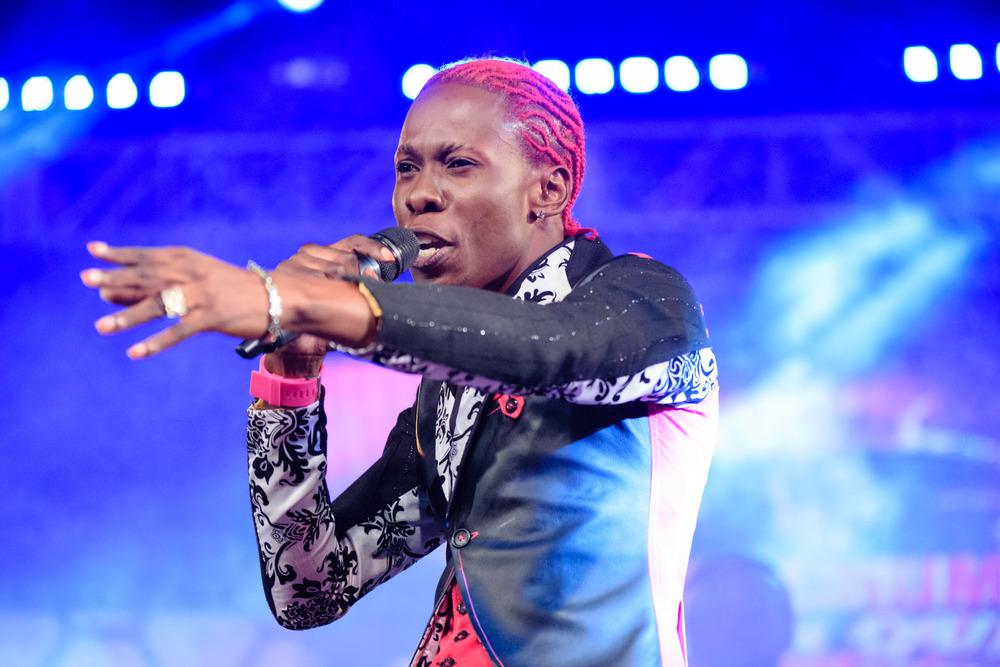 Pink Boss performing at MKQ9