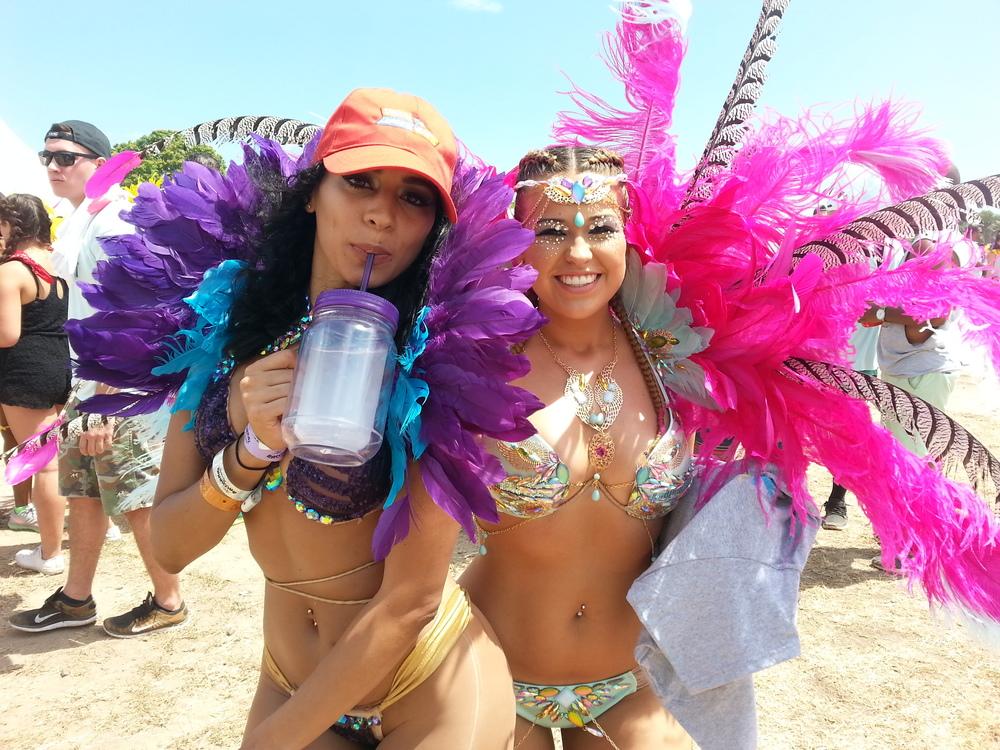 Gabrielle Davis and Steffie Gregg enjoy Bacchanal Jamaica legacy