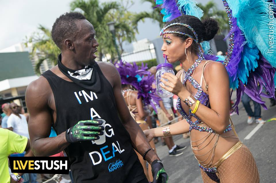 Usain Bolt and Yendi Phillips catch up!