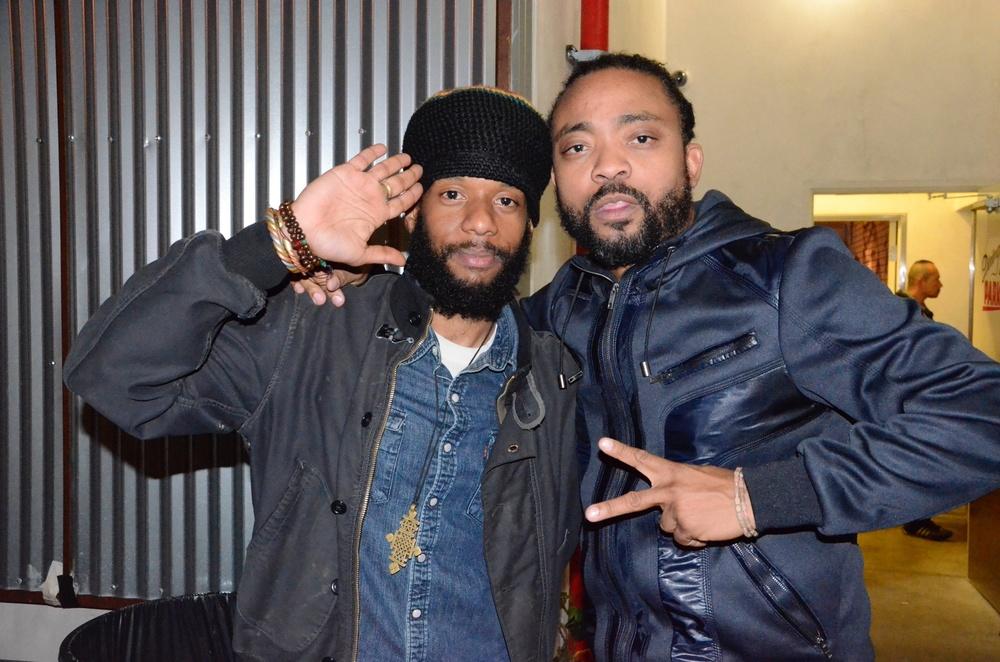 DJ Rampage with soca king Machel Montano.