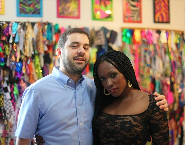 LargeUp's Editor-in-Chief Jesse Serwer with dancehall artist Patra.