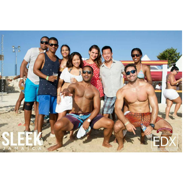 Group Photo taken by Sleek Magazine at the Beach-Day party