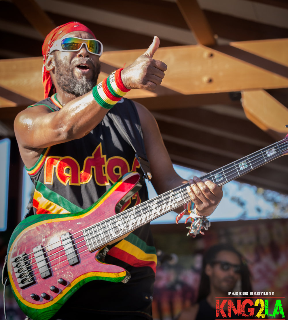 Steel Pulse bass player, Amlak Tafari.