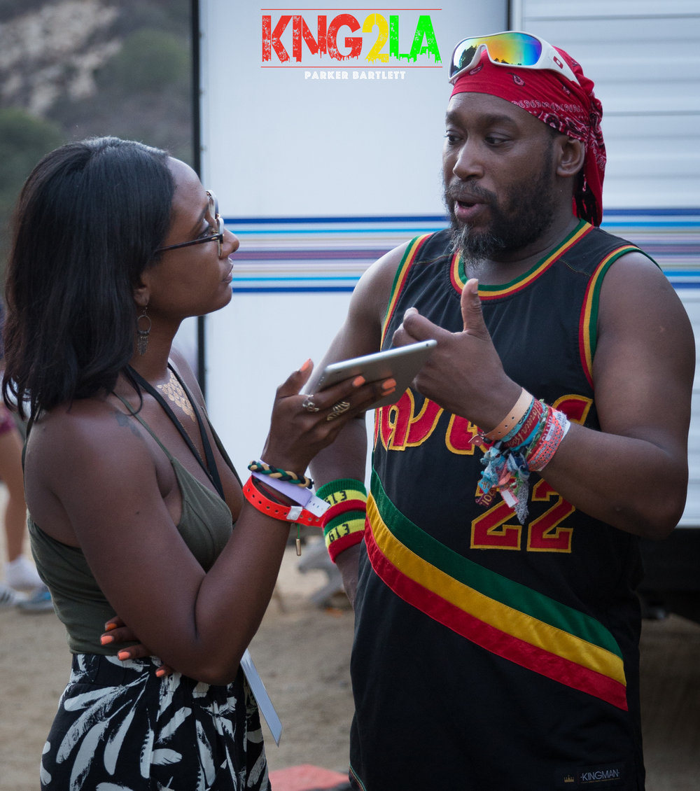 KingstonToLA's Kalifa Madden with Amlak Tafari.