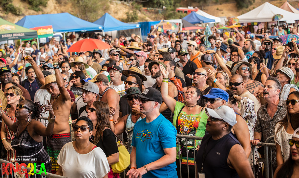 Attendees at the 7th annual Reggae On The Mountain