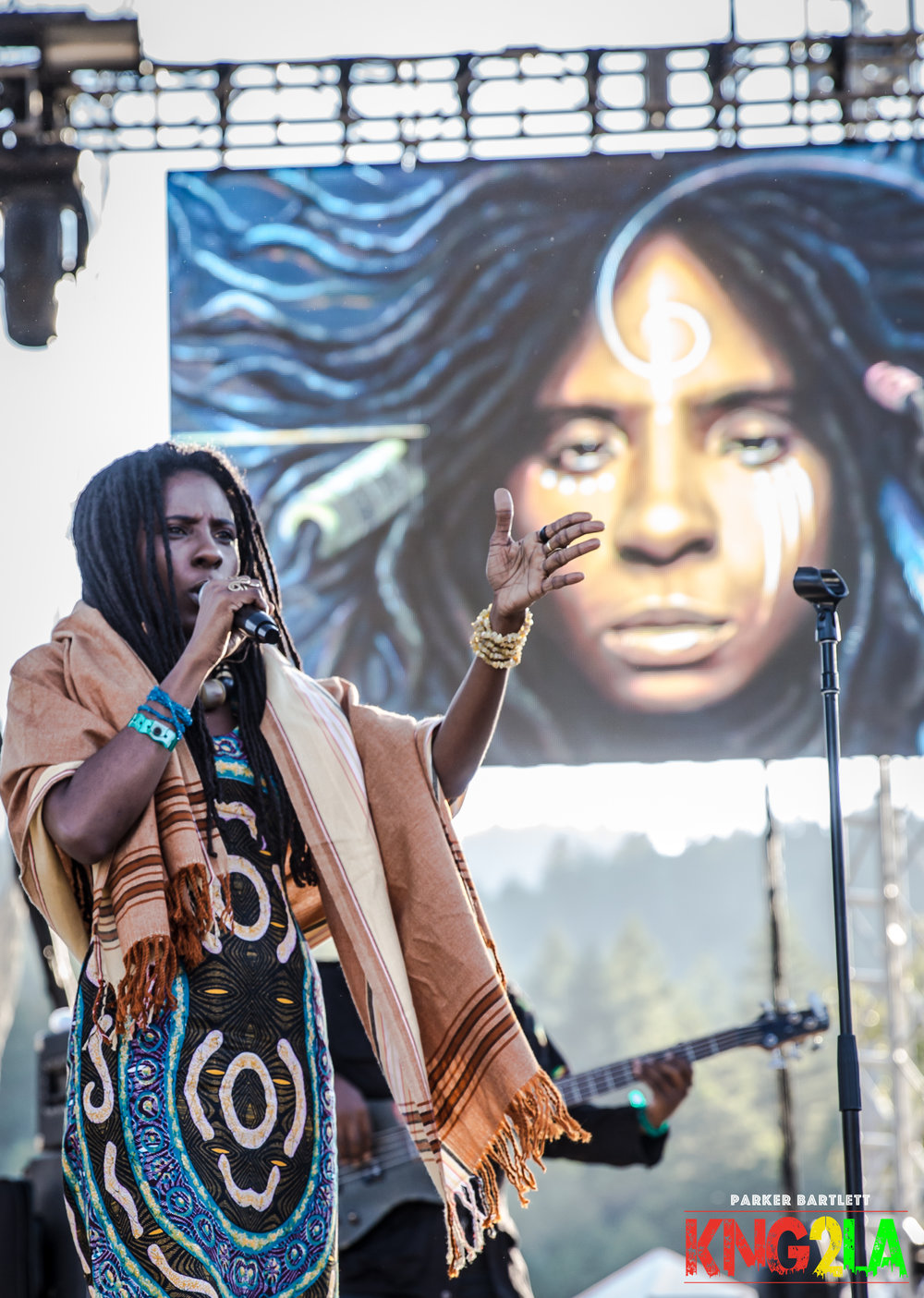 Jah9 performing live at the 2016 Reggae on the River music festival. Photo courtesy of Parker Bartlett.