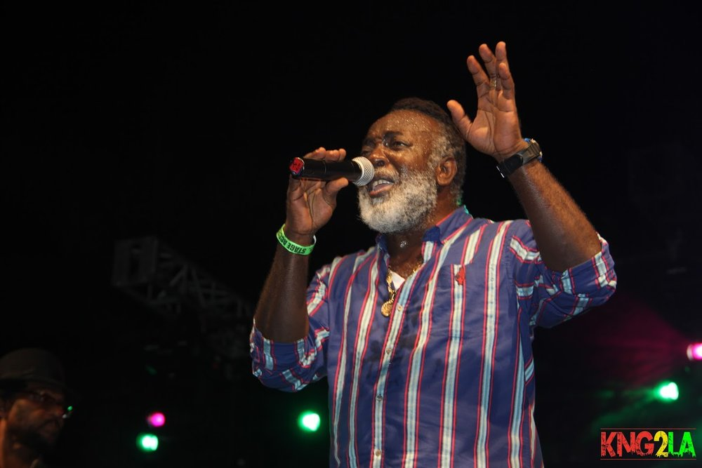 "Freddie McGregor performing live at Third World's ""Under The Stars"" benefit."